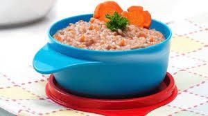 Resep MPASI 6 bulan bubur susu beras merah